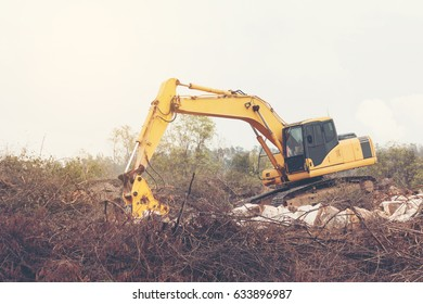 Crawler Drill working on drilling rock at mountain