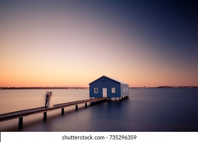 Crawley Edge Boatshed (Blue Boat House)