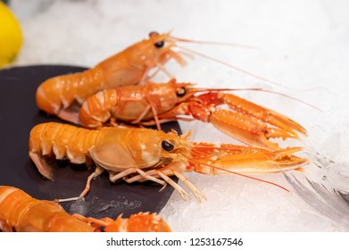 crayfish on the plate