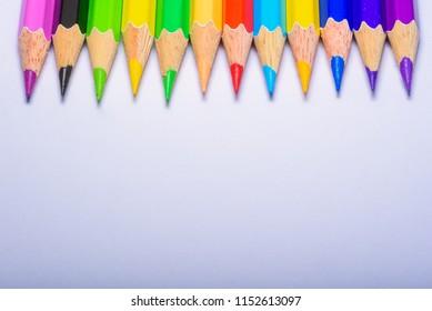 crayon, color pencil, back to school concept