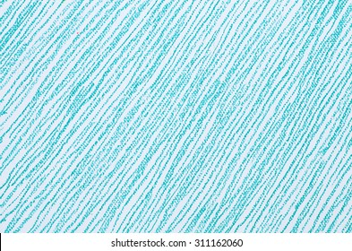 crayon lines drawn  on white paper background