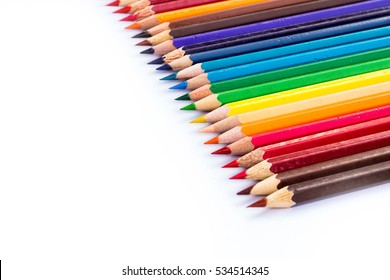 crayon on white background.