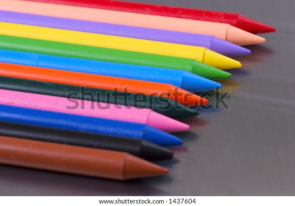 Crayons of different colors