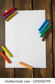 Crayons lying on a paper