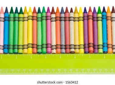 Crayons and Ruler Border – A row of crayons and a ruler make a nice back-to-school border.