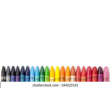 Crayons space background.