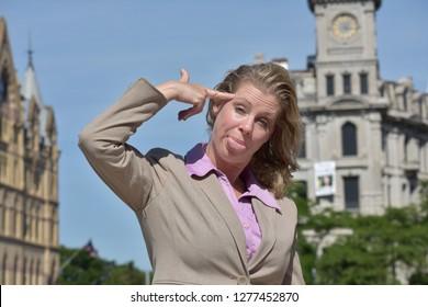 Crazy Business Woman