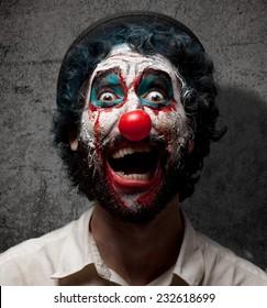 crazy evil clown