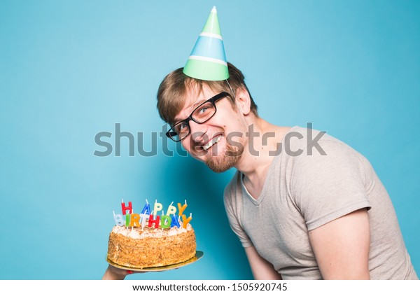 Super Crazy Funny Positive Guy Hipster Happy Stock Photo Edit Now Birthday Cards Printable Opercafe Filternl