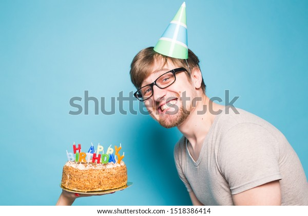 Admirable Crazy Funny Positive Guy Hipster Happy Stock Photo Edit Now Birthday Cards Printable Opercafe Filternl