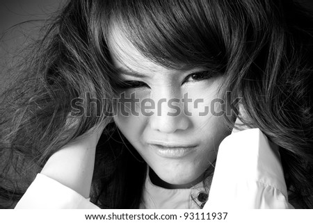 Crazy Girl Female Model Grab Own Stock Photo (Edit Now) 93111937