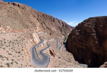 crazy twisting road