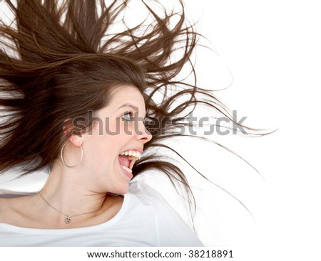 image of a crazy woman