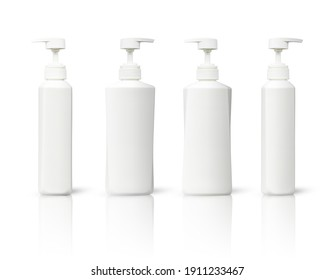 cream bottle packaging white color isolated with clipping path on white background. beauty products for decoration work