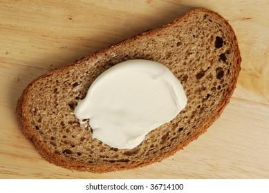 cream and bread