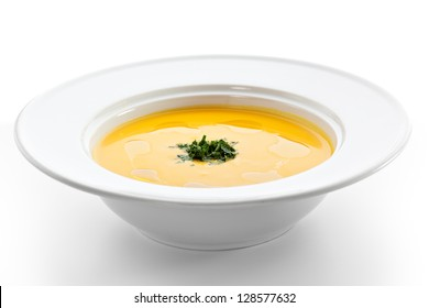 Cream of Cauliflower Soup with Green Herb