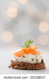 cream cheese with salmon