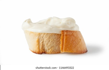 Cream cheese toster bread, isolated on white background.