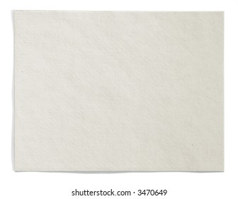 Cream colored textured paper with clipping path around paper (shadow excluded).  Horizontally aligned.