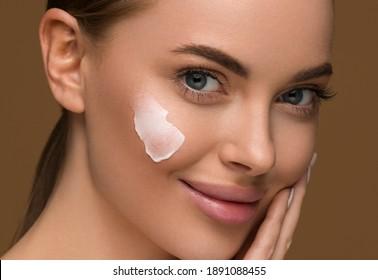 Cream face skin woman beauty cosmetic