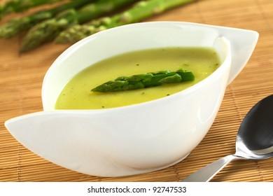 Cream of green asparagus (Selective Focus 93d7bb5d84ee