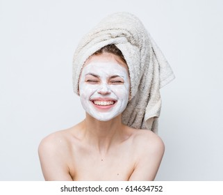 cream on face skin woman smiling