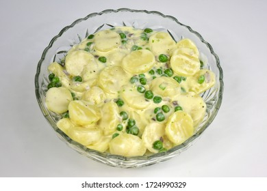 Creamed potato and peas American  tradition dish old stile