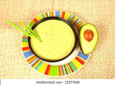 Creamy avocado cream soup