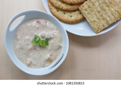 Creamy Clam Dip and Crackers