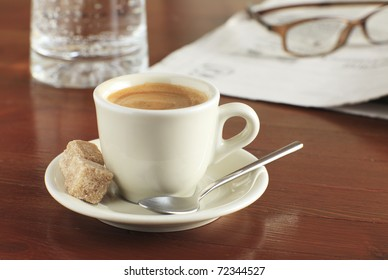 Creamy cup of coffee