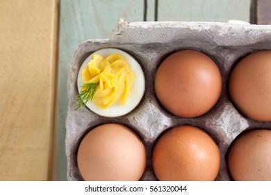 Creamy Garlic Dijon Deviled Eggs