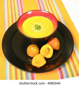 Creamy soup made with palmfruit