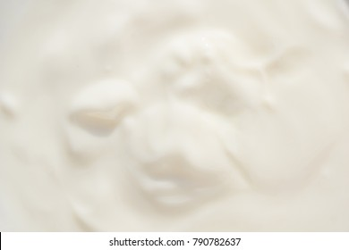 creamy yogurt abstract texture.selective focus