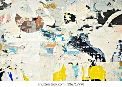 Creased crumpled paper texture background / Old grunge ripped torn collage posters