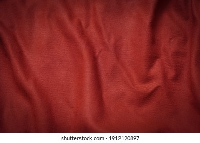 creased of red fabric for background