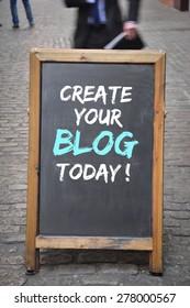 Create a blog today outdoor blackboard panel
