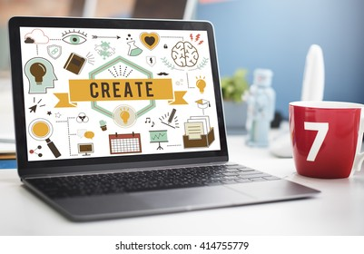 Create Ideas Aspiration Solution Inspiration Concept