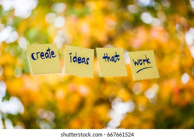 Create Ideas that work