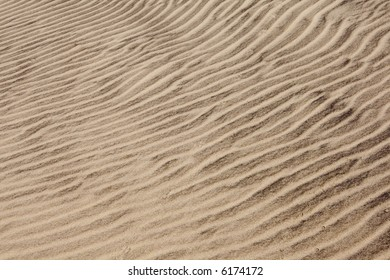 Created by wind ripples in sand