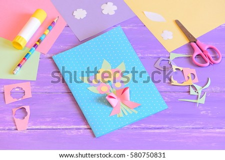 Creating Greeting Card Mom Step Card Stock Photo Edit Now