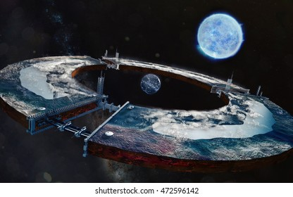creation of an artificial planet. 3d rendering