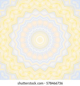 Creative abstract background. Color mandala with floral style. Raster illustration. For design, wallapepr, print, textilemosaic, a kaleidoscope, glass yarn, painting, iridescence, golovolomka,