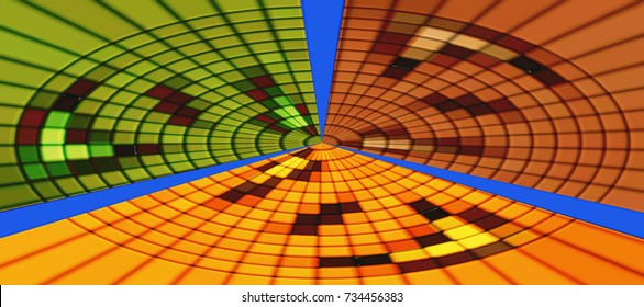 Creative abstract background.  Geometric  pattern of uneven squares. Geometric mosaic.
