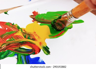 Creative background or Painting brush