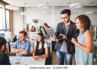 Creative business team working on the project in a modern office