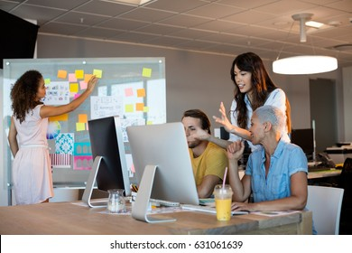 Creative business team working together at office