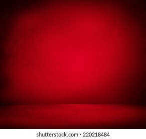Creative Christmas background. Inside an empty red room