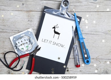 Creative Christmas Card for an electrican business