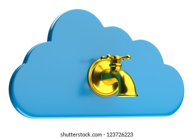 a creative cloud icon with tap