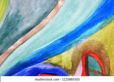 Creative colorful background. Blue abstract art. Creative pattern. Drawing, painting, illustration, cover design, backdrop, texture, abstract thinking, art therapy, creativity, lines.
